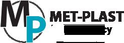 Logo Met-Plast - firma zajmuje się piaskowaniem i malowaniem proszkowym